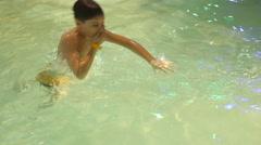 Boy In Spa Center Aqua Park Stock Footage