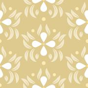 Floral leaves seamless pattern Stock Illustration