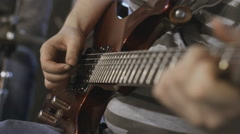 guitarist playing. close-up. arm - stock footage