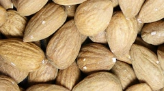 The Peeled almonds kernels Stock Footage
