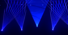 Dynamic concert stage lighting - stock footage