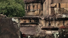 Ruins of the building in the ancient city of Polonnaruwa, Sri Lanka. - stock footage