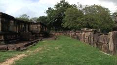 Ruins of the building in the ancient city of Polonnaruwa, Sri Lanka. Stock Footage