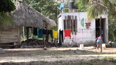 Poor Family House In Quintana Roo Mexico - stock footage