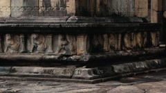 Buddha statue in the ruins in the ancient city of Polonnaruwa, Sri Lanka. Stock Footage