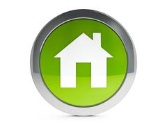 House icon with highlight - stock illustration