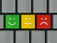 Keyboard positive, neutral and negative Stock Illustration