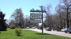 Boone Tavern Hotel Sign Berea Kentucky Stock Footage