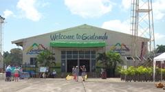 Santo Tomas de Castilla Guatemala Welcome Center Stock Footage