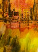 Abstract art background. Hand drawn acrylic painting. - stock photo