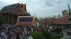 Wat Phra Kaew or the Temple of the Emerald Buddha, Grand Palace, Bangkok, Stock Footage