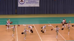 Orenburg, Russia : Performance of girls cheerleader - stock footage