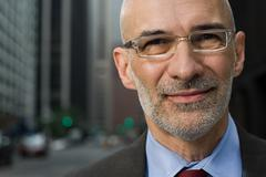 Headshot of a senior businessman Stock Photos