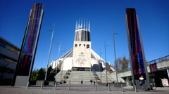 Liverpool Metropolitan Cathedral - stock footage
