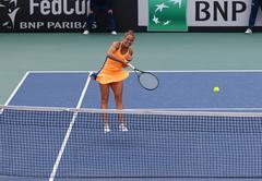 Fed Cup Tennis: Ukraine v Argentina in Kiev - stock photo