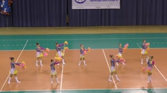 Orenburg, Russia -  Performance of girls cheerleader - stock footage