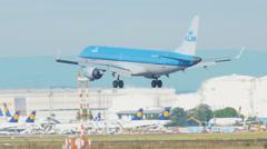 KLM Sityhopper Embraer 190 landing Stock Footage