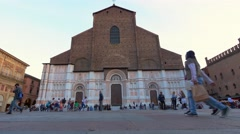 People at saturday evening in Bologna - stock footage
