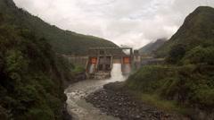 Banos Ecuador Central hidroeléctrica Agoyán, Hydro electric plant Stock Footage