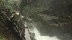 Banos Ecuador  Pailon del Diablo, Devils cauldron falls - stock footage