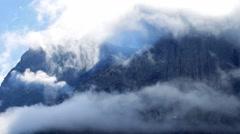 Trollveggen mountain, Norway Stock Footage