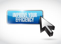 Improve Your Efficiency button sign concept - stock illustration