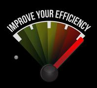 Improve Your Efficiency meter sign concept - stock illustration