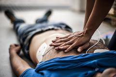 Cardiac massage Stock Photos