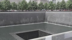 911 Memorial Trade Center Freedom Tower New York City Slow Motion - stock footage