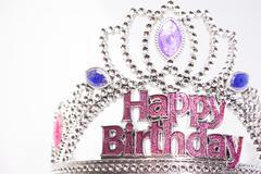 Happy birthday crown. - stock photo