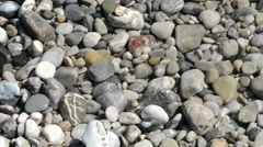 Rocks in the isar river. water flowing over the stones. Stock Footage