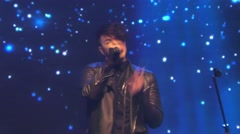 Hovi Star from Israel performs the song Made of Stars during Eurovision promo Stock Footage