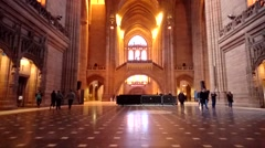 Time Lapse In Liverpool Cathedral - stock footage