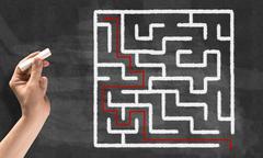 Labyrinth pattern - stock photo