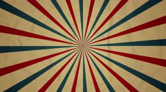 Circus starburst looped animation background - stock footage