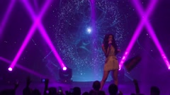 Samra from Azerbaijan performs the song Miracle during Eurovision promo Stock Footage
