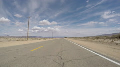Old Route 66 Rough Road Driving Time Lapse Stock Footage