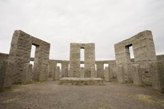 Stonehenge replica in washington state Stock Photos