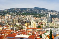 Cityscape of La Condamine, Monaco-Ville, Monaco. Principality of Monaco, Fren - stock photo