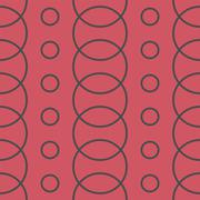 Seamless Colorful Pattern Created from Circles - stock illustration