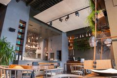 Elegant public place for eating and entertaining - stock photo