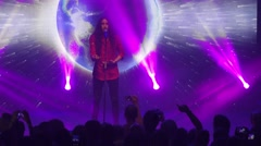 Michal Szpak from Poland performs the song Color Of Your Life Stock Footage