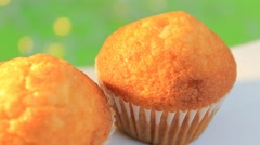 Green background - Cupcake - Shiny - 06 Stock Footage