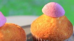 Stock Video Footage of green background -  Cupcake - Sparkling - 01