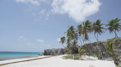 Tropical Barbados Bottom Bay beach - Caribbean nature landscape shot Stock Footage