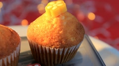 Stock Video Footage of red background - Cupcake - Sugar - 04