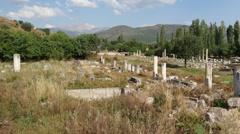 Panorama of ancient agora Stock Footage