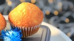 Grey background - Cupcake - Focus - 01 - stock footage