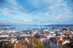 Aerial view of Geneva, Switzerland Kuvituskuvat