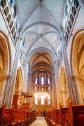St Pierre Cathedral interior in Geneva Stock Photos